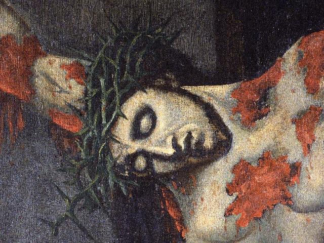 Il volto del Crocifisso dipinto da S. Alfonso è un invito ad amarlo (Foto Raccolta Marrazzo). dans immagini sacre 02-02-05-02-02-Ciorani-Memorie-S.-Alfonso-Crocifisso
