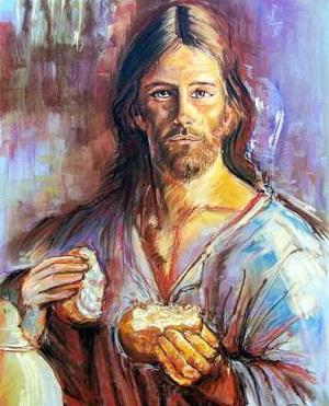 Je suis le pain vivant qui est descendu du ciel , l'Evangile d'aujourd'hui dans images sacrée PaneDisceso