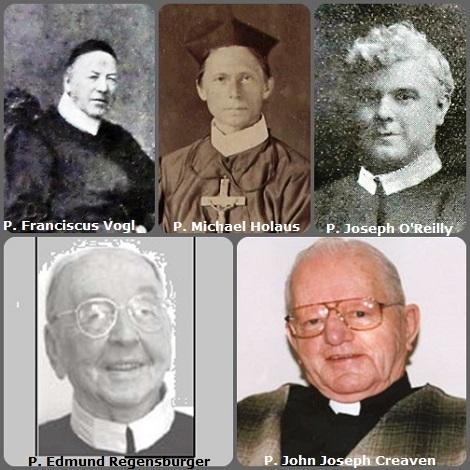 La seconda immagina presenta 5 redentoristi: il bavarese P. Franciscus Vogl (1807-1890); l'austriaco P. Michael Holaus (1835-1895); e gli americani P. Joseph O'Reilly (1876-1925); P. Edmund Regensburger (1919-2009) e P. John Joseph Creaven (1922-2010).
