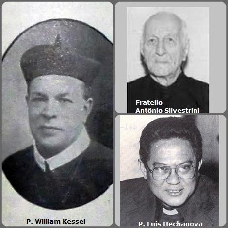 Tra i 35 defunti di oggi 25 gennaio, di cui 3 italiani, l'immagine presenta 3 Redentoristi: il tedesco P. William Kessel (1853-1928), trasferito in America; il filippino P. Luis Hechanova (1940-2001) e il brasiliano Fratello Antônio Silvestrini (1904-2004).