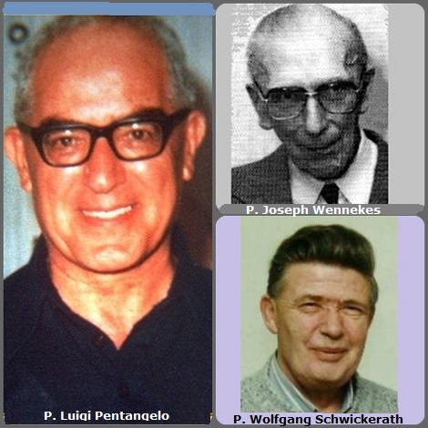 La seconda immagine mostra 3 Redentoristi: l'italiano P. Luigi Pentangelo (1918-1984) missionario pioniere in Madagascar; l'olandese P. Joseph Wennekes (1913-1995) e il tedesco P. Wolfgang Schwickerath (1931-2013).