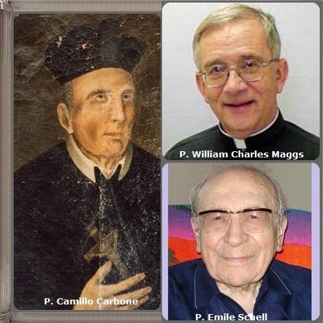 Tra i 36 defunti di oggi 6 marzo, di cui 2 italiani l'immagine mostra 3 Redentoristi: l'italiano P. Camillo Carbone (1766-1795), l'americano P. William Charles Maggs (1941-2006) e il francese P. Emile Schell (1918-2013).