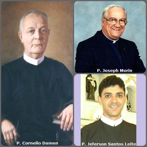 Tra i 36 defunti di oggi 18 marzo, di cui 2 italiani l'immagine mostra 3 Redentoristi: l'olandese P. Cornelio Damen (1881-1953), noto moralista, il canadese P. Joseph Morin (1923-2011) e il giovane brasiliano P. Jeferson Santos Leite (1981-2013).