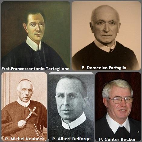 Tra i 44 defunti di oggi 21 marzo, di cui 5 italiani l'immagine mostra 5 Redentoristi, di cui due italiani: Fratello Francescantonio Tartaglione (1715-1774); P. Domenico Farfaglia (1898-1985); il francese P. Michel Neubert (1805-1882), il belga P. Albert Delforge (1885-1935) e il tedesco P. Günter Becker (1942-2013).