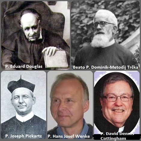 Tra i 45 defunti di oggi 23 marzo, di cui 3 italiani l'immagine mostra 5 Redentoristi: lo scozzese P. Eduard Douglas naturalizzato italiano, oggi Servo di Dio (1819-1898), il tedesco P. Joseph Pickartz (1867-1934), il beato P. Dominik-Metodìj Trčka (1886-1959) sepolto in Slovacchia, il tedesco P. Hans Josef Wenke 1956-2010 e il canadese P. David Dennis Cottingham (1940-2013).