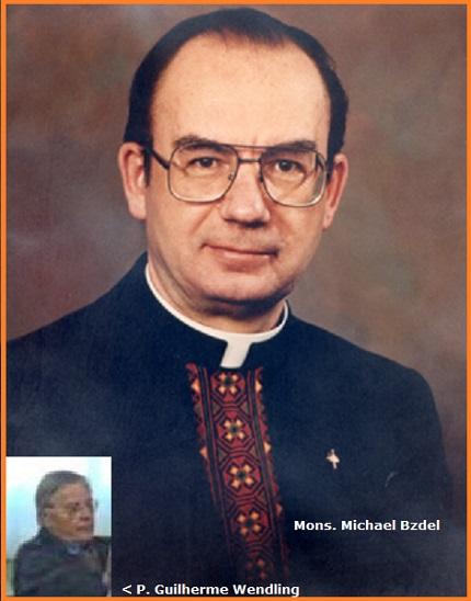 Tra i 33 defunti di oggi 3 aprile, di cui 3 italiani l'immagine mostra due Redentoristi: il canadese P. Michael Bzdel (1930-2012) Arcivescovo degli Ucraini Cattolici in Winnipeg dal 1993 al 2006; il brasiliano P. Guilherme Wendling (1926-2011).