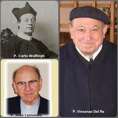 Tra i 42 defunti di oggi 7 aprile, di cui 4 italiani l'immagine mostra 3 Redentoristi: l'olandese P. Carlo Wulfingh (1838-1898) e l'italiano P. Vincenzo Del Re (1919-2012) e il canadese P. Jean Lassonde (1922-2007).