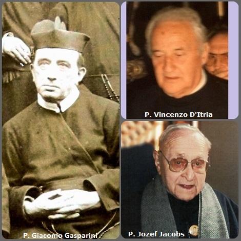 Tra i 30 defunti di oggi 6 giugno, di cui 5 italiani l'immagine mostra 3 Redentoristi: gli italiani P. Giacomo Gasparini (1847-1925), siciliano e P. Vincenzo D'Itria (1912-1997) e il belga P. Jozef Jacobs (1922-2013).