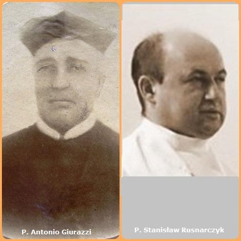 Tra i 37 defunti di oggi 25 agosto, di cui 2 italiani l'immagine mostra due Redentoristi: l'italiano P. Antonio Giurazzi (1821-1876) e il polacco P. Stanisław Rusnarczyk (1972-2013).
