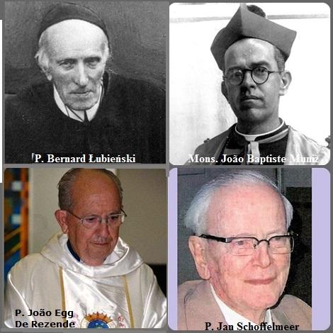 Tra i 31 defunti di oggi 10 settembre, di cui 2 italiani, l'immagine mostra 4 Redentoristi: il polacco P. Bernard Łubieński (1846-1933), morto in fama di santità; il brasiliano Mons. João Baptiste Muniz (1900-1977), vescovo di Barra (do Rio Grande) Baia; l'olandese P. Jan Schoffelmeer (1918-2009) e il brasiliano P. João Egg De Rezende (1931-2013).