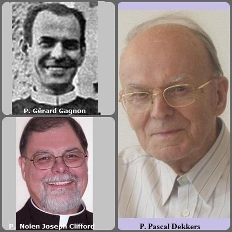 Tra i 26 defunti di oggi 12 settembre, di cui 3 italiani, l'immagine mostra 3 Redentoristi: il canadese P. Gérard Gagnon (1914-1994), l'americano P. Nolen Joseph Clifford (1950-2009) e l'olandese P. Pascal Dekkers (1925-2012).