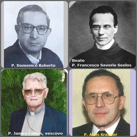 Tra i 35 defunti di oggi 04 ottobre, di cui 4 italiani, l'immagine mostra 4 Redentoristi: l'italiano P. Domenico Roberto (1915-1978); il Beato P. Francesco Saverio Seelos (1819-1867); l'irlandese P. James Collins (1921-2002) che fu il primo vescovo della diocesi di Miracema do Tocantins, Brasile e l'austriaco P. Alois Kraxner (1933-2010).