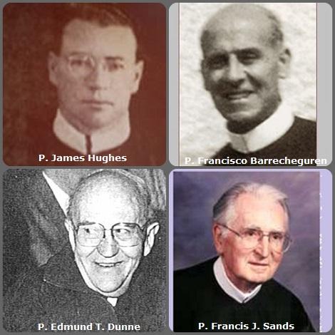 Seconda immagine 4 Redentoristi: l'americano P. James Hughes (1908-1947), lo spagnolo P. Francisco Barrecheguren Montagut (1881-1957), l'australiano P. Edmund T. Dunne (1917-2004) e l'americano P. Francis J. Sands (1920-2008).