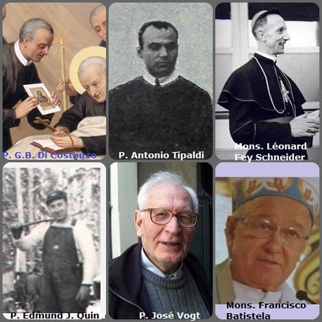 Tra i 48 defunti di oggi 20 ottobre, di cui 4 italiani, l'immagine mostra 6 Redentoristi: gli italiani P. Giovanni Battista Di Costanzo (1743-1801), compagno di S. Alfonso e P. Antonio Tipaldi (1872-1927); il francese Mons. Léonard Fey Schneider (1910-1989), vescovo della diocesi di Kimbe, Papua (Nuova Guinea); il canadese P. Edmund J. Quinn (1920-2004); l'argentino P. José Vogt (1926-2009)e il brasiliano Mons. Francisco Batistela (1931-2010), vescodo della diocesi di Bom Jesus da Lapa, Baia (Brasile).