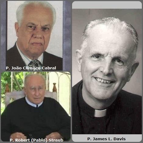 Tra i 21 defunti di oggi 21 ottobre, di cui 2 italiani, l'immagine mostra 3 Redentoristi: il canadese P. James L. Davis (1926-2010); il brasiliano P. João Clímaco Cabral (1930-2009) e l'americano P. Robert (Pablo) Straub (1922-2013).