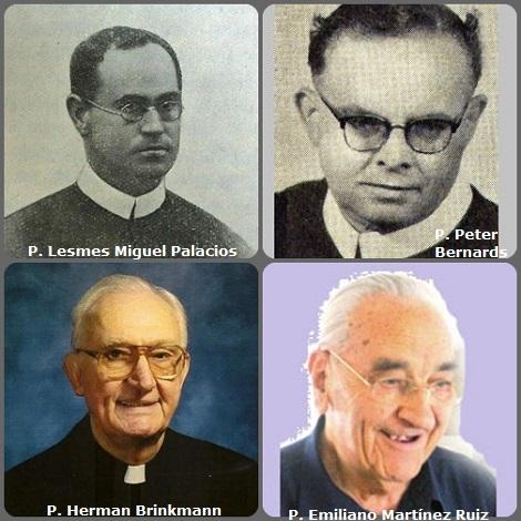 Tra i 32 defunti di oggi 25 ottobre, di cui 2 italiani, l'immagine mostra 4 redentoristi: lo spagnolo P. Lesmes Miguel Palacios (1883-1934); il tedesco P. Peter Bernards (1901-1966); l'americano P. Herman Brinkmann (1928-2009) e lo spagnolo P. Emiliano Martínez Ruiz (1922-2010).