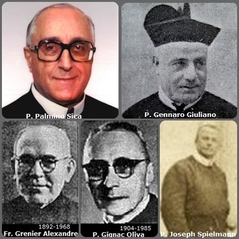 Tra i 41 defunti di oggi 27 ottobre, di cui 4 italiani, l'immagine mostra 3 Redentoristi: gli italiani P. Gennaro Giuliano (1839-1915) e P. Palmino Sica (1918-2003); i canadesi Fratello Alexandre Grenier (1892-1969); P. Joseph Gignac Oliva (1904-1985)e il francese P. Joseph Spielmann (1881-1953) missionario in Perù.