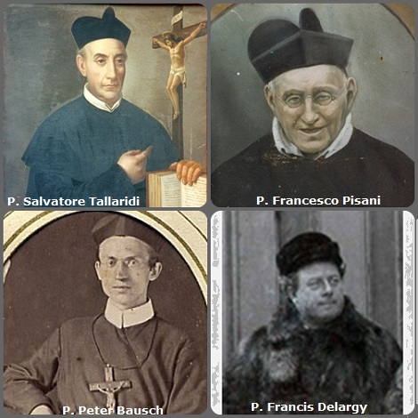 Tra i 32 defunti di oggi 29 ottobre, di cui 3 italiani, l'immagine mostra 4 Redentoristi: gli italiani P. Salvatore Tallaridi (1812-1879) e P. Francesco Pisani (1820-1906); dalle Bahamas P. Peter Bausch (1848-1895) e l'americano P. Francis Delargy (1854-1915).