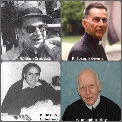 Seconda immagine: 4 Redentoristi: i canadesi P. William Kroetsch (1919-1994) e P. Joseph Owens (1908-2005); lo spagnolo P. Basilio Caballero (1935-1995) e l'americano P. Joseph Hurley 1928-2009).