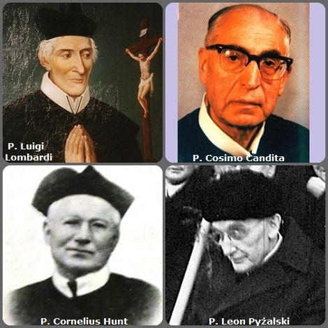 Tra i 39 defunti di oggi 31 ottobre, di cui 3 italiani, l'immagine mostra 4 Redentoristi: gli italiani P. Luigi Lombardi (1787-1811) e P. Cosimo Candita (1909-1996); l'irlandese P. Cornelius Hunt (1865-1938) e il polacco P. Leon Pyżalski (1883-1974).