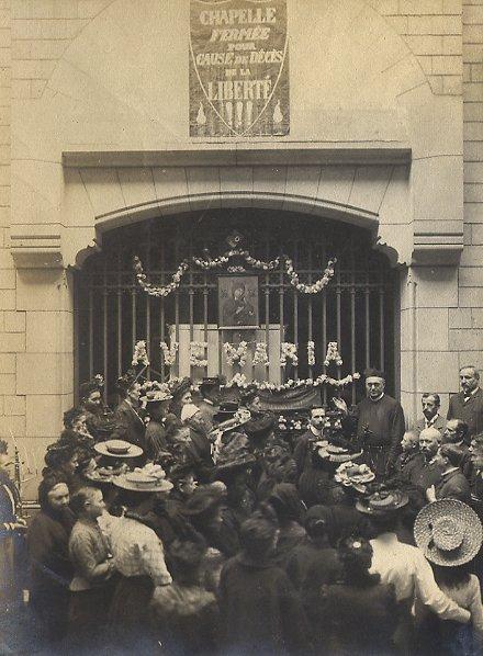 Antony, comune suburbano di Parigi nel 1903. -  La chiesa redentorista chiusa forzatamente dalle leggi antireligiose. Qui morirà nel 1920 il P. Léon Denis.
