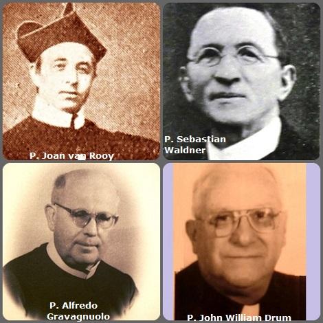Tra i 47 defunti di oggi 6 novembre, di cui 2 italiani, l'immagine mostra 4 Redentoristi: l'olandese P. Joan van Rooy (1830-1871); l'austriaco P. Sebastian Waldner (1865-1938); l'italiano P. Alfredo Gravagnuolo (1897-1973) e l'americano P. John William Drum (1927-2004).