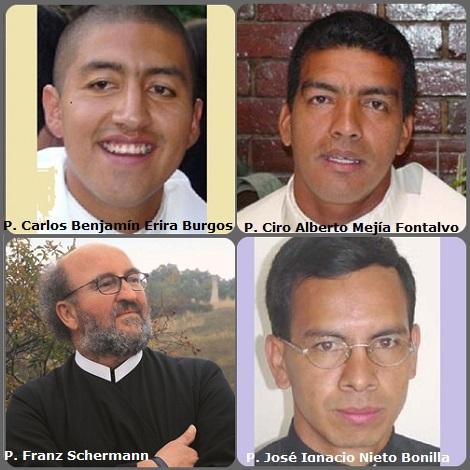 Tra i 36 defunti di oggi 16 novembre, di cui 2 italiani, l'immagine mostra 4 Redentoristi: tre giovani colombiani morti in un incidente stradale, precipitati con la macchina in un burrone, mentre erano in missione; con loro c'era anche una suora missionaria: P. Carlos Benjamín Erira Burgos (1975-2003); P. Ciro Alberto Mejía Fontalvo (1961-2003) e P. José Ignacio Nieto Bonilla (1973-2003) e l'austriaco P. Franz (Feri) Schermann (1948-2013).