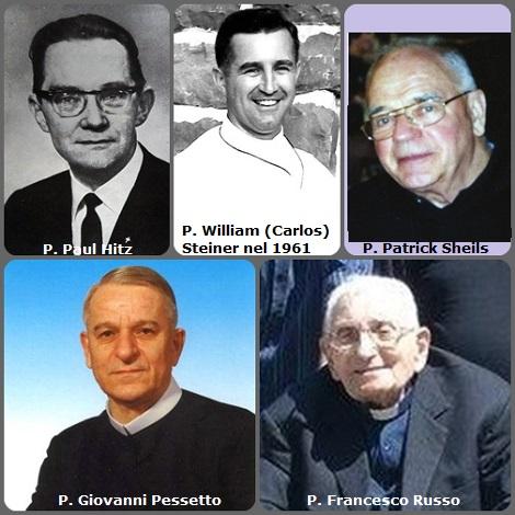Tra i 35 defunti di oggi 17 novembre, di cui 5 italiani, l'immagine mostra 5 Redentoristi: gli italiani P. Giovanni Pessetto (1927-1997) e P. Francesco Russo (1921-2010); lo svizzeo P. Paul Hitz (1915-1974); l'americano P. William(Carlos) Steiner (1927-2011), missionario in Brasile e l'irlandese P. Patrick Sheils (1924-2012).