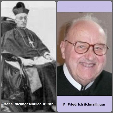 Tra i 25 defunti di oggi 19 novembre, di cui 2 italiani, l'immagine mostra 2 Redentoristi: lo spagnolo Mons. Nicanor Mutiloa Irurita (1874-1946), Vescovo di Tarazona (1935-1946) Spagna e l'austriaco P. Friedrich Schnallinger (1932-2010).