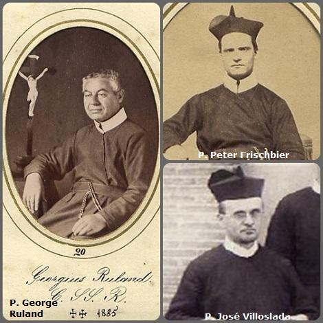 Tra i 30 defunti di oggi 21 novembre, di cui 4 italiani, l'immagine mostra 3 Redentoristi: i tedeschi P. George Ruland (1817-1885) e P. Peter Frischbier (1827-1900) trasferitisi negli USA e lo spagnola P. José Villoslada (1869-1941).
