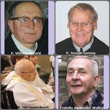 Seconda immagine 4 Redentoristi: l'italiano P. Vittorio Moretti (1920-2010); l'americano P. Joseph Gorney (1925-2012); lo slovacco P. Ján Tomaskovič (1924-2009) e il tedesco Fratello Alexander Wollny (1937-2012).