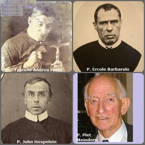 Tra i 53 defunti di oggi 4 dicembre, di cui 6 italiani, l'immagine mostra 4 Redentoristi: gli italiani Fratello Andrea Proto (1796-1866) e P. Ercole Barbarulo (1843-1900); il bavarese P. John Hespelein (1821-1899) e l'olandese P. Piet Meinders (1922-2011).