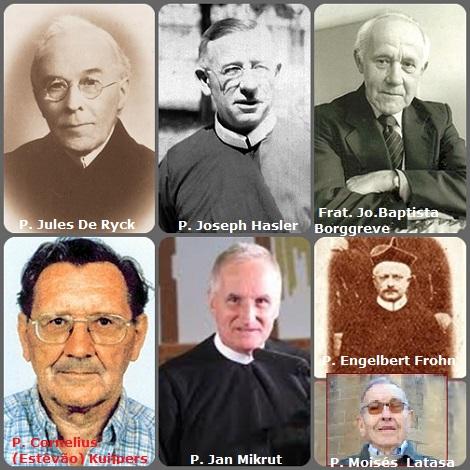 Tra i 38 defunti di oggi 4 gennaio di cui 1 italiano, l'immagine mostra 7 Redentoristi: il tedesco P. Engelbert Frohn (1843-1900); il belga P. Jules De Ryck (1880-1955); l'americano P. Joseph Hasler (1898-1966); gli olandesi Frat. Jo.Baptista Borggreve (1917-2004) e P. Cornelius (Estêvão) Kuijpers (1931-2009); lo spagnolo P. Moisés Latasa (1926-2010) e il polacco P. Jan Mikrut (1942-2013).