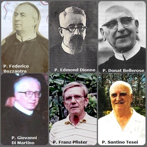 Tra i 43 defunti di oggi 27 gennaio, di cui 7 italiani, l'immagine mostra 6 Redentoristi: l'italiano P. Federico Bozzaotra (1842-1899); i canadesi P. Edmond Dionne (1895-1950) e P. Donat Bellerose (1894-1985); gli italiani P. Giovanni Di Martino (1919-1988).e P. Santino Tesei; il tedesco P. Franz Pfister (1938-2009).