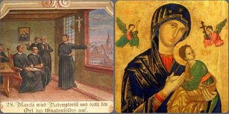 Il P. Michele Marchi racconta alla Comunità redentorista di Roma particolari che aiutano a ritrovare l'icona della Madonna del Perpetuo Soccorso che verrà intronizzata solennemente nella chiesa di S. Alfonsoa in Roma.