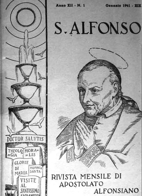 La copertina che presenta i 12 numeri dell'Annata 1941 del Periodico S. Alfonso.