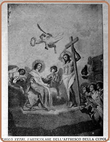 Una immagine dell'Annata 1942 del Periodico S. Alfonso: particolare dell'affresco della cupola della Basilica di Pagani, opera di Paolo Vetri.