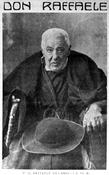 Tra le poche foto dell'Annata 1937 si distingue quella del P. Raffaele Villanacci morto in quest'anno, guardato e venerato come un santo, pur nella sua particolare apparenza.