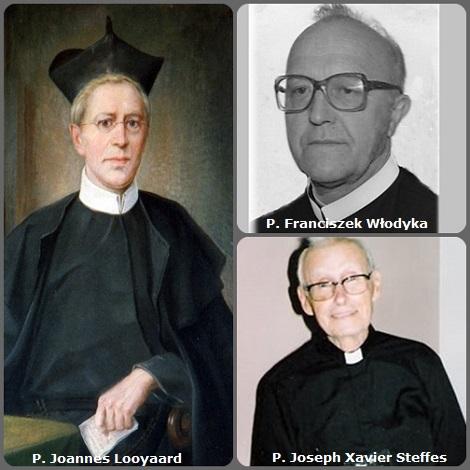 Tra i 40 defunti di oggi, 23 febbraio, di cui 2 italiani l'immagine mostra 3 Redemtoristi: l'olandese P. Joannes Looyaard (1814-1895; il polacco P. Franciszek Włodyka (1935-2012) e l'americano P. Joseph Xavier Steffes (1914-2008).