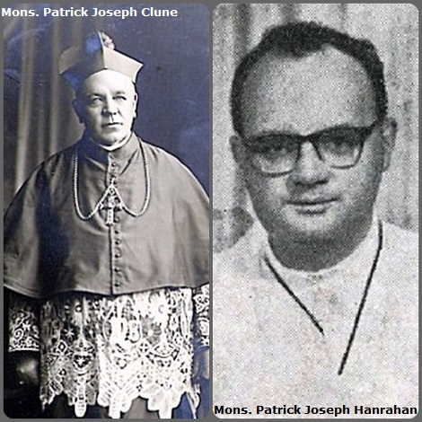 Tra i 20 defunti di oggi 24 maggio, di cui 1 italiano l'immagine mostra due redentoristi vescovi irlandesi: P. Patrick Joseph Clune (1864-1935) vescovo in Australia e P. Patrick Joseph Hanrahan (1925-1993) vescovo in Brasile.
