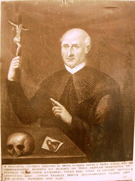 """Il redentorista P. Francesco Saverio Menichini (1768-1840), detto """"il maggiore"""", nativo di Ottaviano godette della stima di tutti i confratelli."""