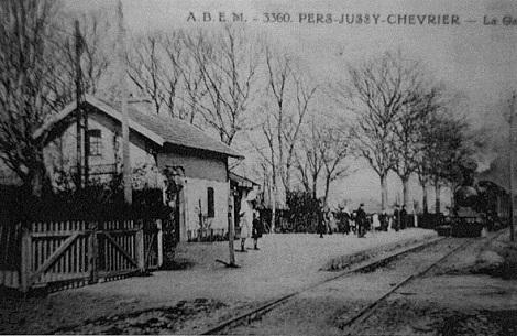 Foto = Pers-Jussy-stazione1930.jpg - In questo villaggio dell'Alta Savoia era nato nel 1852 il redentorista P. Joseph Pittet.