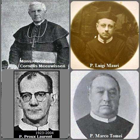Tra i 30 defunti di oggi 29 giugno, di cui 5 italiani l'immagine mostra 4 Redentoristi: il vescovo olandese nel Suriname Mons. Jacobus Cornelis Meeuwissen (1847-1916); gli italiani P. Luigi Mauri (1877-1934) e P. Marco Tomei (1869-1935) e il canadese P. Laurent Proulx (1923-2004).