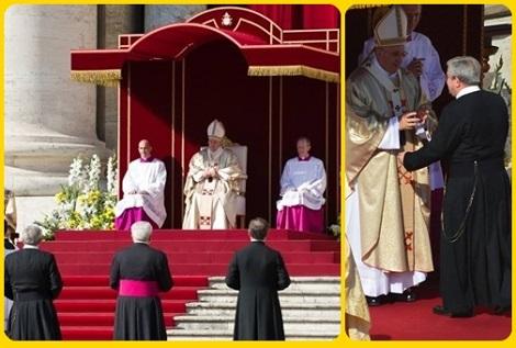 Il lavoro di postulazione per la beatificazione di Paolo VI è stato portato avanti con successo dal redentorista P. Antonio Marrazzo: due momenti della Beatificazione avvenuta il 19 ottobre 2014.