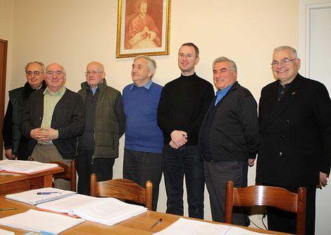 Roma - Storici redentoristi a convegno. - P. Giovanni Vicidomini è il secondo da destra.