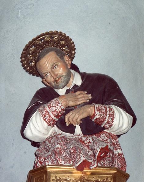 Marianella, chiesa parrocchiale Busto del Santo, opera dello scultore Citarella.