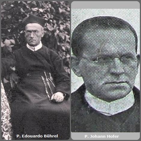 Tra i 35 defunti di oggi 1 gennaio, di cui 6 italiani, l'immagine mostra 2 Redentoristi: il francese P. Edouardo Bührel (1843-1924) e l'austriaco P. Johann Hofer (1879-1939).