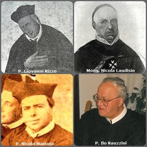 Tra i 49 defunti di oggi 6 gennaio di cui 8 italiani,due immagini mostrano 8 Redentoristi.- Prima immagine: 4 Redentoristi: gli italiani P. Giovanni Rizzo (1713-1771); Mons. Nicola Laudisio (1779-1862), vescovo di Policastro; P. Nicola Mariano (1833-1905) e il P. Ilo Rauzzini (1918-2000).