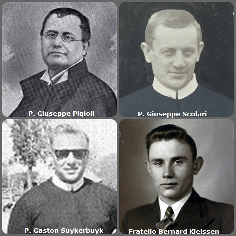Tra i 45 defunti di oggi 15 gennaio, di cui 6 italiani, l'immagine mostra 4 Redentoristi: gli italiani P. Giuseppe Pigioli (1822-1889) e P. Giuseppe Scolari (1879-1969); il belga P. Gaston Suykerbuyk (1914-1989) morto in Portorico e l'olandese fratello Bernard Kleissen (1913-2003).