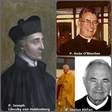 Tra i 29 defunti di oggi 26 gennaio, di cui 2 italiani, l'immagine mostra 3 redentoristi: il boemo P. Joseph Libozky von Holdenberg (1789-1841); l'irlandese P. Seán O'Riordan, (1916-1998) apprezzato moralista, e lo slovacco P. Štefan Kitľan (1943-2012).